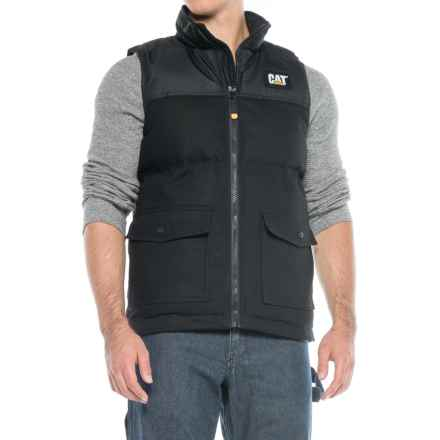 Caterpillar Trademark Vest - Insulated (For Men) in Black - Closeouts