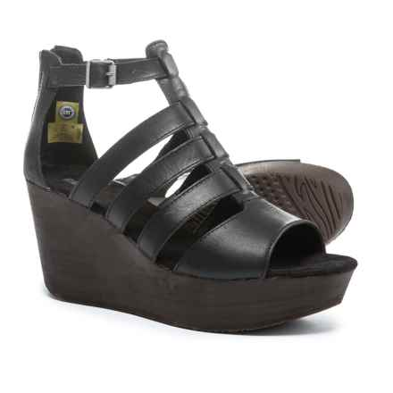 Caterpillar Westwood Wedge Sandals - Leather (For Women) in Black - Closeouts