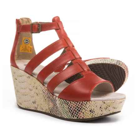 Caterpillar Westwood Wedge Sandals - Leather (For Women) in Paprika Print - Closeouts