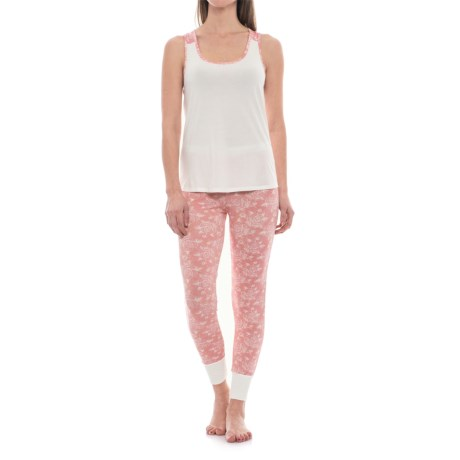 Catherine Catherine Malandrino Catherine Malandrino Racerback Tank Top and Joggers Pajamas (For Women) in Double Rose Pink