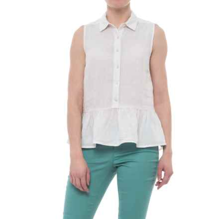 Catherine Catherine Malandrino Flouncy Linen Shirt - Sleeveless (For Women) in Old Lace/Ivory - Closeouts