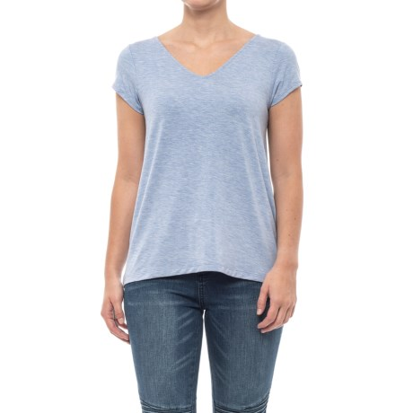 e58b5f24bb4c5 Catherine Malandrino Modal V-Neck Shirt - Short Sleeve (For Women) in Medium
