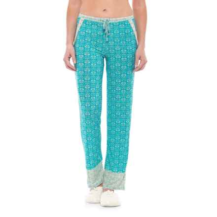 Catherine Malandrino Printed Pajama Pants (For Women) in Turquoise Baroque - Closeouts