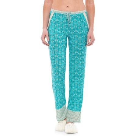 Catherine Malandrino Printed Pajama Pants (For Women) in Turquoise Baroque