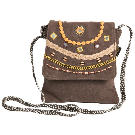 Catori Brielle Flap Over Crossbody Bag (For Women) in Brown
