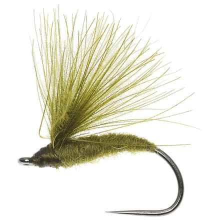 CDC Caddis Dry Fly - Dozen in Olive - Closeouts