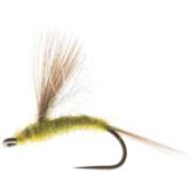 CDC Tailwater Dun Dry Fly - Dozen in Pale Morning Dun - Closeouts