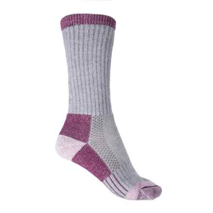 C.E. Schmidt Merino Wool Blend Arctic Weight Thermal Socks - Crew (For Women) in Grey/Purple - Closeouts