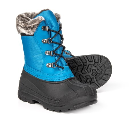 Image of Celestial Blue Lace-Up Thinsulate(R) Pac Boots - Waterproof, Insulated (For Boys)