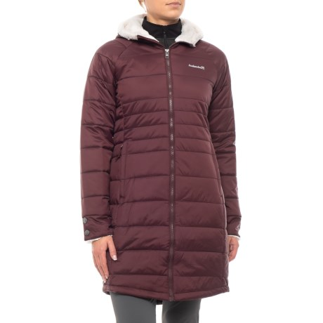 Image of Celsius Hooded Quilted Long Coat - Insulated (For Women)