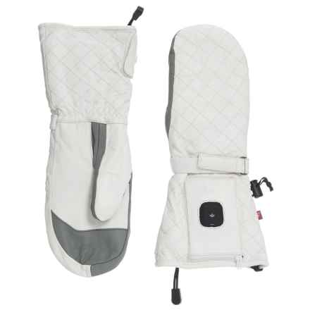 Celtek Luxe Heated Mittens - Waterproof, Insulated, Touchscreen Compatible (For Women) in White - Overstock