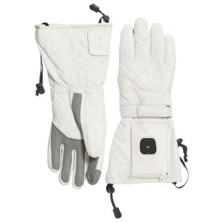 Celtek Luxe Heated PrimaLoft® Gloves - Waterproof, Insulated (For Women) in White - Overstock