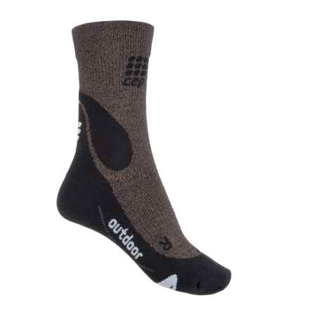 CEP Dynamic+ Outdoor Light Compression Socks - Crew (For Women) in Brown/Black - Closeouts