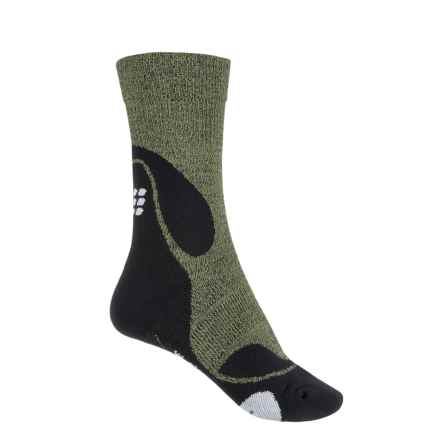 CEP Dynamic+ Outdoor Light Compression Socks - Crew (For Women) in Green/Black - Closeouts