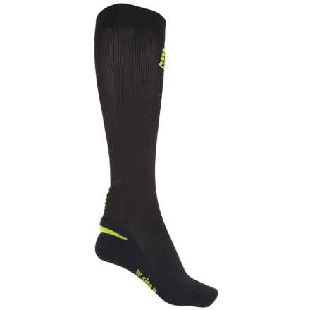 CEP Ortho+ Achilles Support Compression Socks - Over the Calf (For Women) in Black/Green - Closeouts