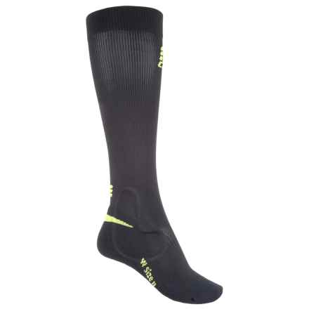 CEP Ortho+ Ankle Support Socks - Over the Calf (For Women) in Black/Green - Closeouts