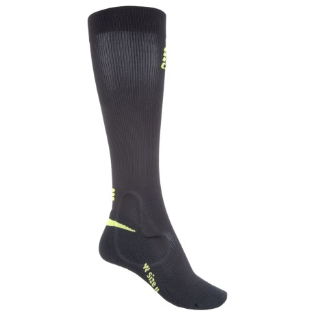 CEP Ortho+ Ankle Support Socks - Over the Calf (For Women) in Black/Green