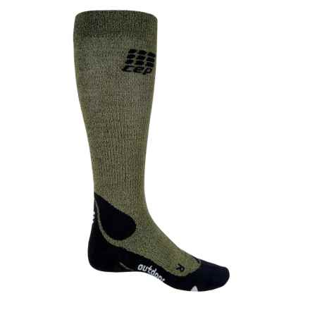 CEP Progressive+ Outdoor Compression Socks - Over the Calf (For Men) in Green/Black - Closeouts