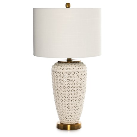Image of Ceramic Open Weave Table Lamp
