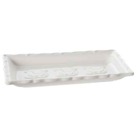 Ceriart Made in Portugal Patine Triple Sleigh Serving Platter in White - Closeouts