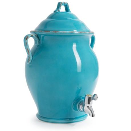 Certified International Ceramic Beverage Dispenser - 17 qt. in Teal