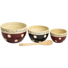 Certified International Family Table Mixing Bowl Set - 3-Piece, Ceramic in Family Table - Closeouts