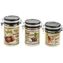 Certified International Farm Fresh Canister Set - Ceramic, 3-Piece in Farm Fresh - Closeouts