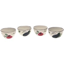 Certified International Melanzana Bowls - Set of 4 in Melanzana - Closeouts