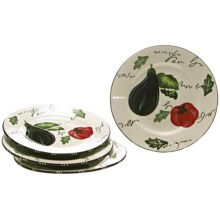 Certified International Melanzana Dinner Plates - Set of 4 in Melanzana - Closeouts