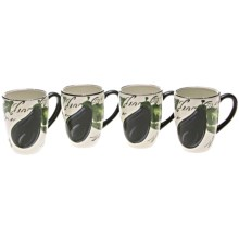 Certified International Melanzana Mugs - Set of 4, 20 fl.oz. in Melanzana - Closeouts