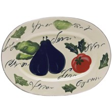 Certified International Melanzana Oval Platter - Ceramic in Melanzana - Closeouts