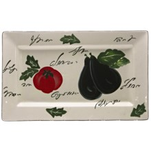 Certified International Melanzana Rectangular Platter - Ceramic in Melanzana - Closeouts
