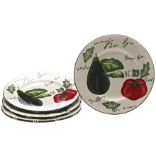 Certified International Melanzana Salad Plates - Set of 4 in Melanzana - Closeouts
