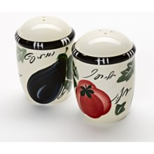 Certified International Melanzana Salt and Pepper Shakers in Melanzana - Closeouts