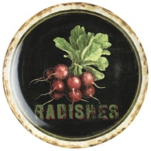 "Certified International Radishes Serving Platter - Ceramic, 15"" in Farm Fresh - Closeouts"
