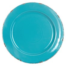 "Certified International Round Platter - Ceramic, 13.25"" in Teal - Closeouts"