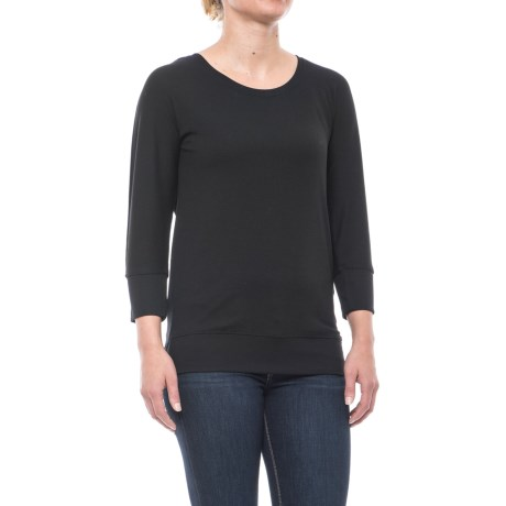 CG Cable & Gauge Dolman Shirt - 3/4 Sleeve (For Women) in Black