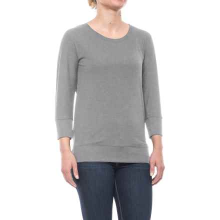 CG Cable & Gauge Dolman Shirt - 3/4 Sleeve (For Women) in Heather Grey - Closeouts