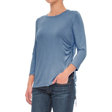 CG Cable & Gauge Drawstring Shirt - 3/4 Sleeve (For Women) in Seal Blue