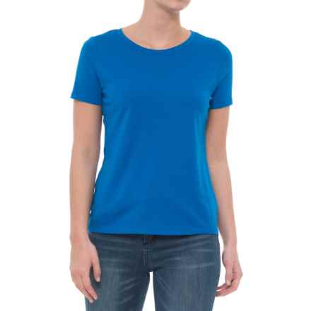 CG Cable & Gauge Jersey T-Shirt - Short Sleeve (For Women) in Blue Hyacinth - Closeouts