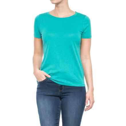 CG Cable & Gauge Jersey T-Shirt - Short Sleeve (For Women) in Isla Turquoise - Closeouts