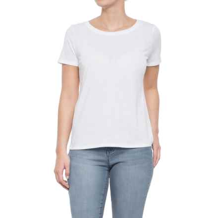 CG Cable & Gauge Jersey T-Shirt - Short Sleeve (For Women) in White - Closeouts