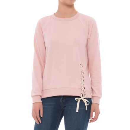 CG Cable & Gauge Laced Terry Shirt - Long Sleeve (For Women) in Pink Nouveau - Overstock