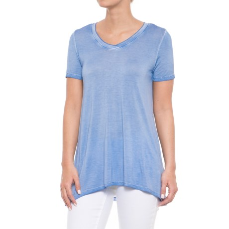 CG Cable & Gauge Pigment-Dyed Jersey High-Low Shirt - Short Sleeve (For Women)