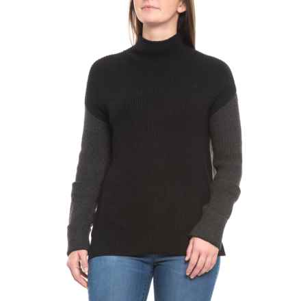 ceef5bdad90712 Clearance. CG Cable   Gauge Shaker Stitch Sweater (For Women) in  Black Heather Charcoal