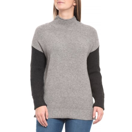 2f7ee93517 CG Cable   Gauge Shaker Stitch Sweater (For Women) in Heather Grey Heather