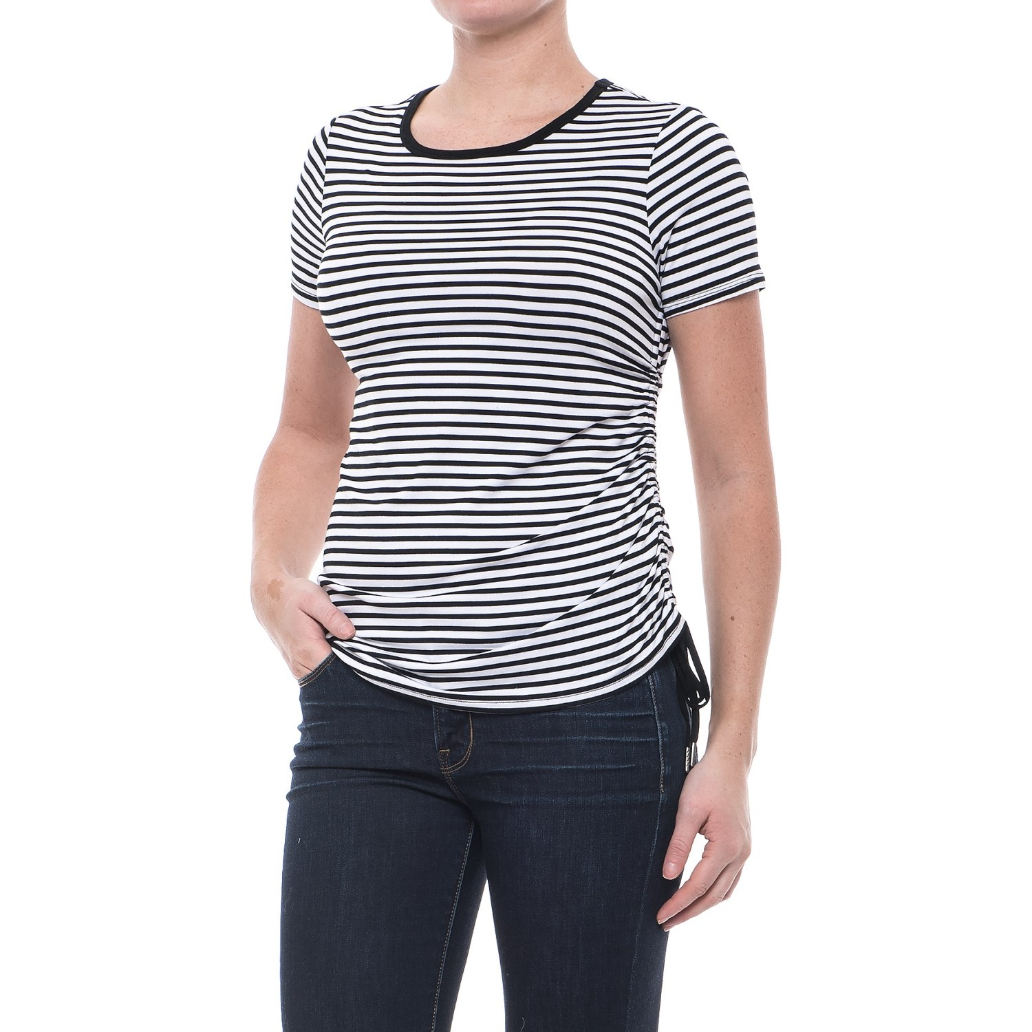 CG Cable & Gauge Striped Side Drawstring T-Shirt (For Women) - Save 70%