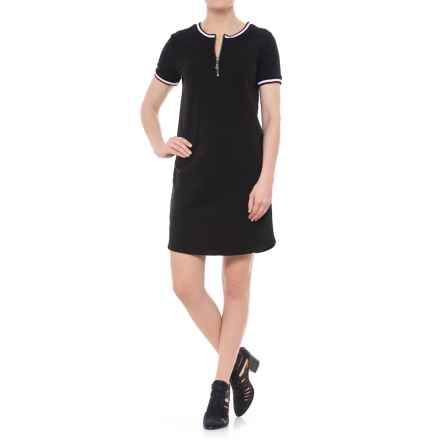 CG Cable & Gauge Summer French Terry Dress - Short Sleeve (For Women) in Black - Overstock