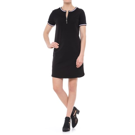 CG Cable & Gauge Summer French Terry Dress - Short Sleeve (For Women) in Black