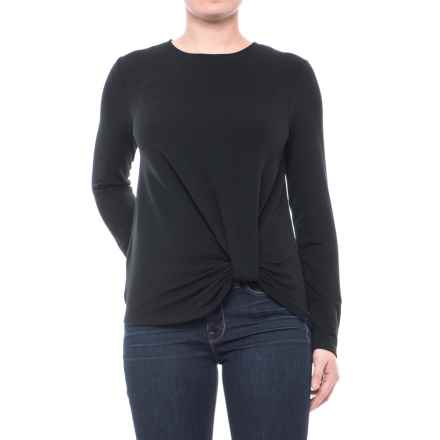 CG Cable & Gauge Twist-Front Sweatshirt (For Women) in Black - Closeouts